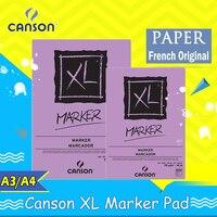 Canson XL Série Marcador Cola Almofada Bound 70 gFold Sobre sentiu pintura notepad cadernos de papel de impressão de mármore francês original A3 A4 A5