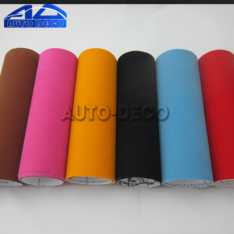 Image 5 - Velvet Fabric Car Wrapping Vinyl Film Adhesive Suede Vinyl Wrap With Air Bubble Free Good Quality Fast Shipping Automotive Decal-in Car Stickers from Automobiles & Motorcycles