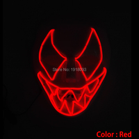DC 3V Sound Activated Red EL Masks Luminous Novelty Glowing Light Classical Toy Party LED Mask