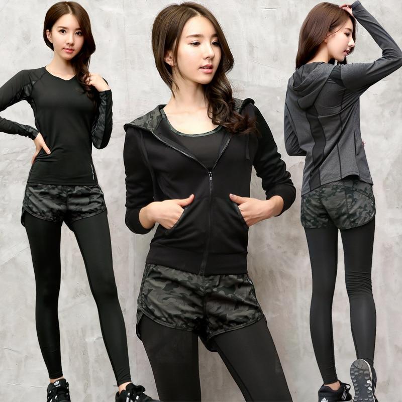 3 Piece Set Yoga Sports Wear for Women Gym Fitness Clothing Sport Suit Women Yoga Jacket