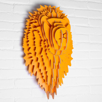 9 color Simple Modern Nordic Style Wood Lion Head Wall Hanging Furniture For Home Creative Sculpture Home Decoration WDM005M