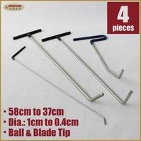 Paintless Dent Removal Tools PDR Push Rod Hooks Crowbar Paintless Dent Repair Tool Kit Car Dent Fix Dent Puller Hook A5A6B9C3