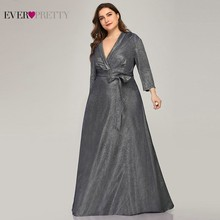 Sparkle Plus Size suknie wieczorowe długie zawsze ładne A Line dekolt w szpic Bow Sashes granatowe eleganckie sukienki wizytowe Robe De Soiree 2020