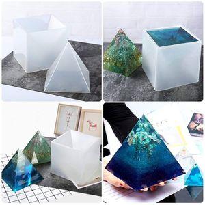 Image 5 - משלוח חינם גדול שרף תבניות פירמידת תבניות, שרף עובש סיליקון DIY Orgonite פירמידת, תכשיטי כלים, אפוקסי שרף תבניות