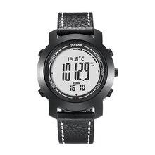 Spovan 2019 New Digital Sport Man Watch Faux Leather Waterproof Smart Wristwatch Running Military Quality Reloj Hombre Bracelet
