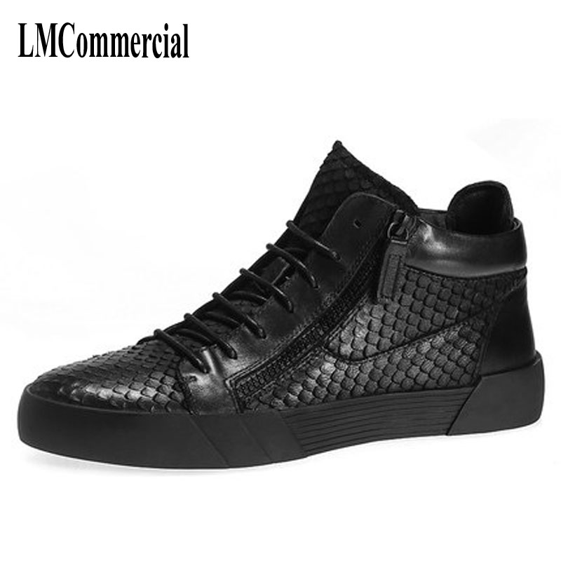 men High shoes breathable sneaker fashion boots men casual shoes boots breathable sneaker leather England youth high tide 2017 new all match autumn zipper leather shoes breathable sneaker fashion boots men casual shoes handmade fashion comfortable