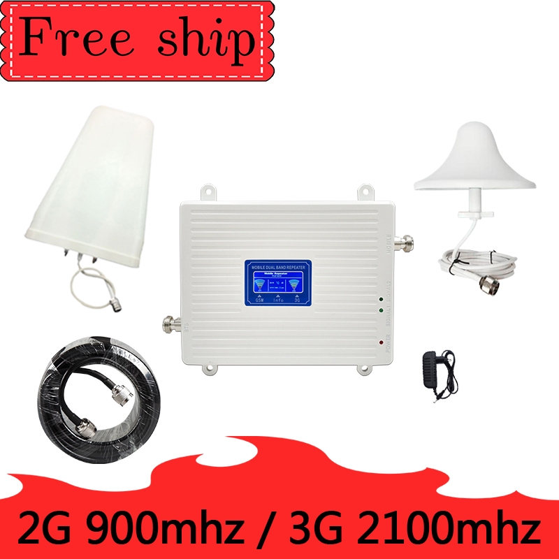 TFX-BOOSTER GSM 2G 900 WCDMA  3 G 2100 MHZ Repeater Dual Cell Phone Gain 70 Db  900 MHZ 2100MHZ  UMTS Gsm  Signal Booster