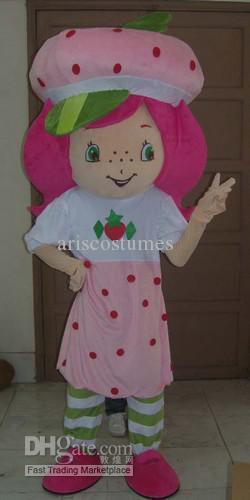 Le plus nouveau costume de mascotte de shortcake de fraise costume de déguisement costume de carnaval costumes de fête d'enfants