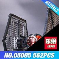 Lepin 05005 The First Order Tie Set Fighter Genuine Star Plan Series DIY 75101 Building Blocks