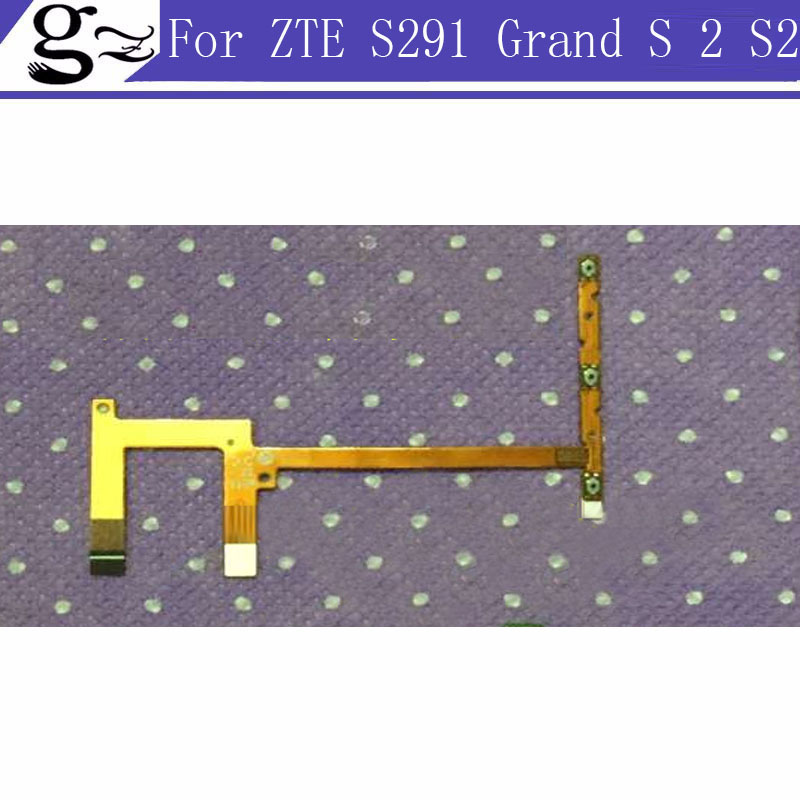 replacement power on/off and volume up/down key button flex cable For zte Grand S II 2 S2 S291