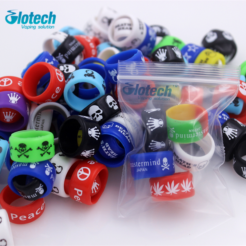 Glotech 5pcs/10pcs Silicone Rubber Band Vape Ring For Mechanical Mods Rda Rba Decorative And Protection Vape Non Slip Band