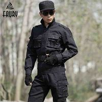 Military uniform Outside Tactical Army Hunting Clothing Combat jackets+ pants Tactical Black Coats Suits CS Military Sets