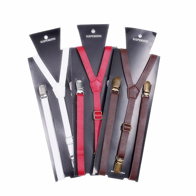 Fashion 3 Color Geqing Synthetic Leather Suspenders Men Novelty Unisex Women Sexy Baby Adjustable Length Gentleman in Men 39 s Ties amp Handkerchiefs from Apparel Accessories