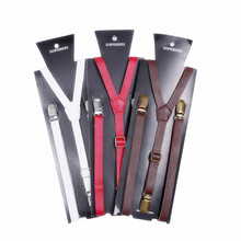 Fashion 3 Color Geqing Synthetic Leather Suspenders Men Novelty Unisex Women Sexy Baby Adjustable Length Gentleman