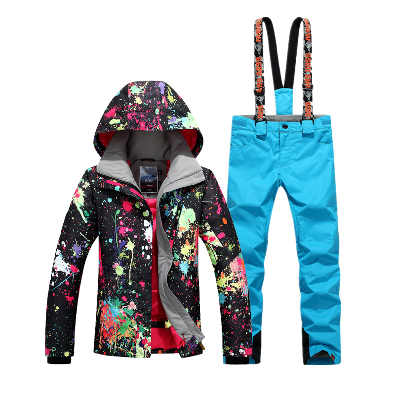 NIUMO New Ski suit female suit In the winter thick waterproof To keep warm two-piece