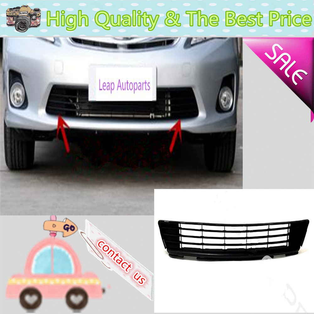 For Toyota Corolla 2011 2012 2013 Car protection ABS chrome trim Front racing up Grid Grill Grille Around frame lamp panel 1pcs high quality abs chrome 2pcs up grill trim lower grill trim grill decoration trim grill streamer for honda city 2015 216