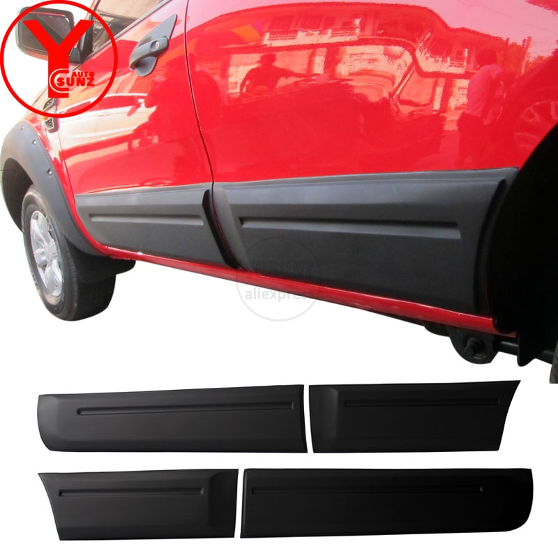 YCSUNZ black body cladding ABS side door trim exterior car auto parts accessories For Ford Everest Endeavour 2016 2017 2018 2019