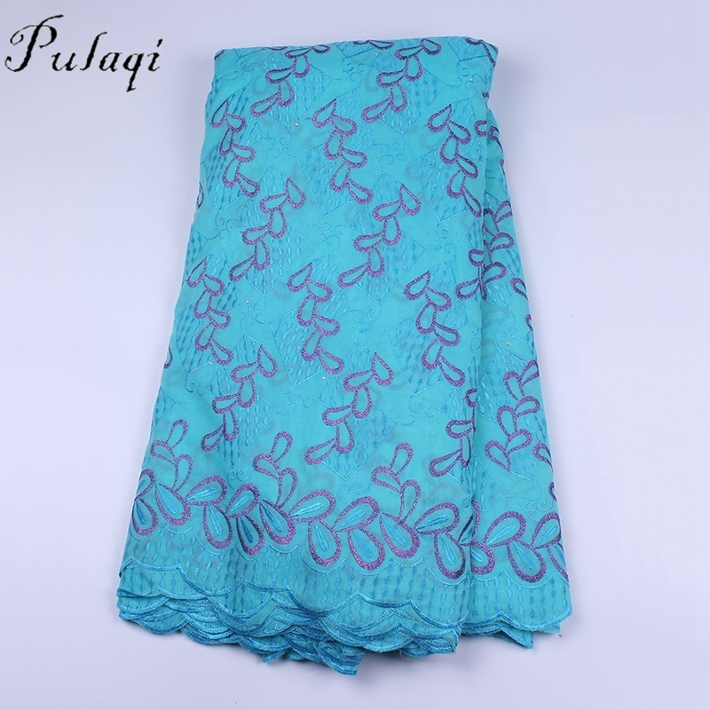 Pulaqi dentelle africaine tissu 2018 haute qualité suisse Voil dentelle nigériane français dentelle brodé Tulle dentelle tissu pour robe H