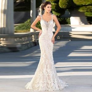 Image 4 - Eightale Meimaid Wedding Dress Lace Sweetheart New Backless Bride dress White Ivory Wedding Gowns 2019 vestido de casamento