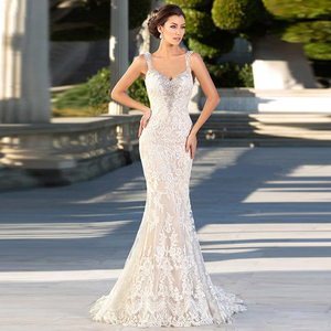 Image 4 - Eightale Meimaid חתונה שמלת תחרה מתוקה חדש ללא משענת הכלה שמלה לבן שנהב שמלות כלה 2019 vestido de casamento