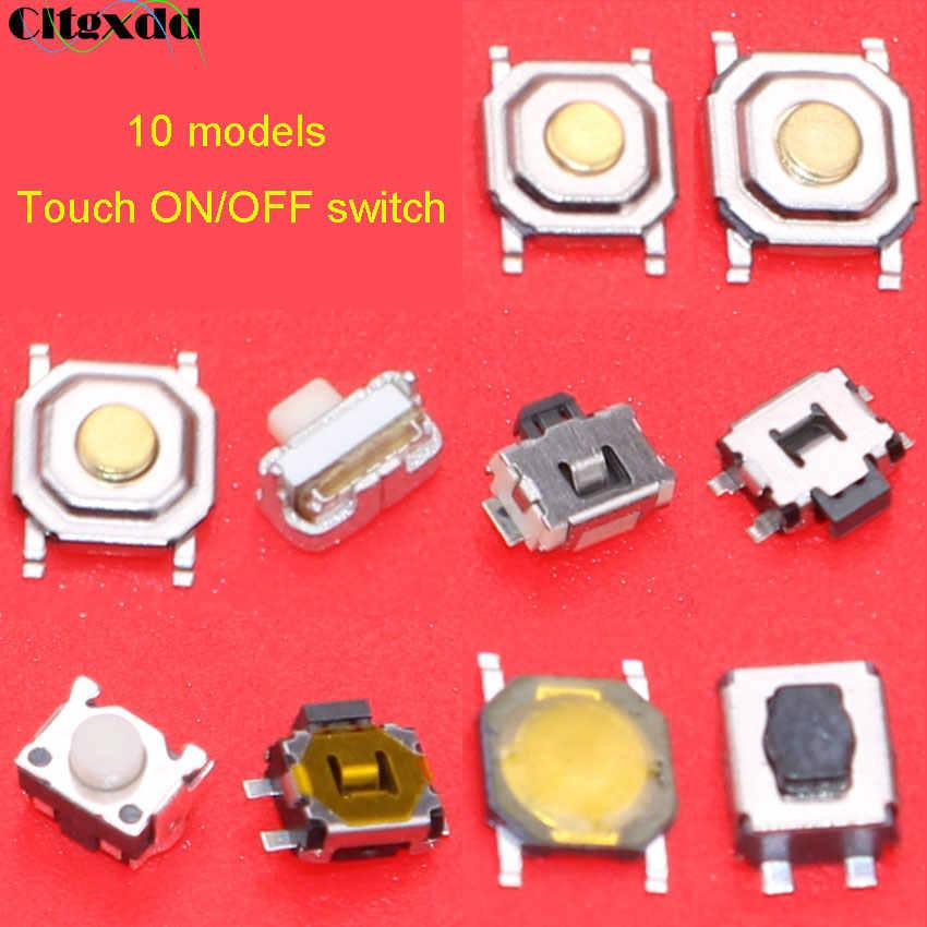 10 modelos de controle remoto do carro chave toque interruptor botão tátil pacote componente chave para hyundai nissan honda vw toyota kia