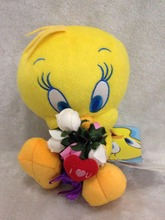 Looney Tunes Tweety Plush Toys The Yellow Bird Plush Doll Kids Love Toy High Quality 25cm
