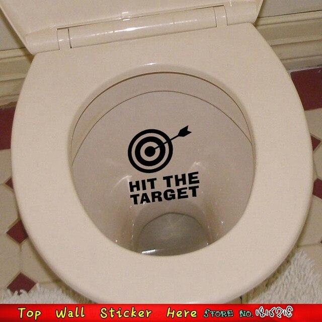 Creative Flèches Frapper La Cible Toilette Autocollants Pour Salle De Bains Toilettes Décoration Maison Stickers Papier Peint Vinyle Pâte Papier