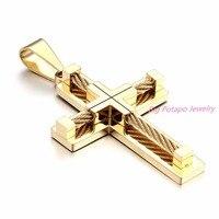 Brand Necklace Silver Gold Color Jewelry Antique Cross Crucifix Jesus Cross Pendant Necklaces For Women Men
