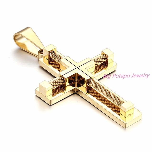 Brand necklace silver gold color jewelry antique cross crucifix brand necklace silver gold color jewelry antique cross crucifix jesus cross pendant necklaces for women men aloadofball Image collections