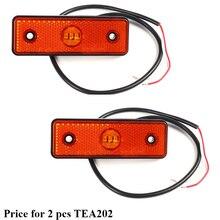 2 pcs  AOHEWEI 3LED Trailer  amber yellow side marker,position led Light  lamp 12 V 24V Trailer light  marker light tail light