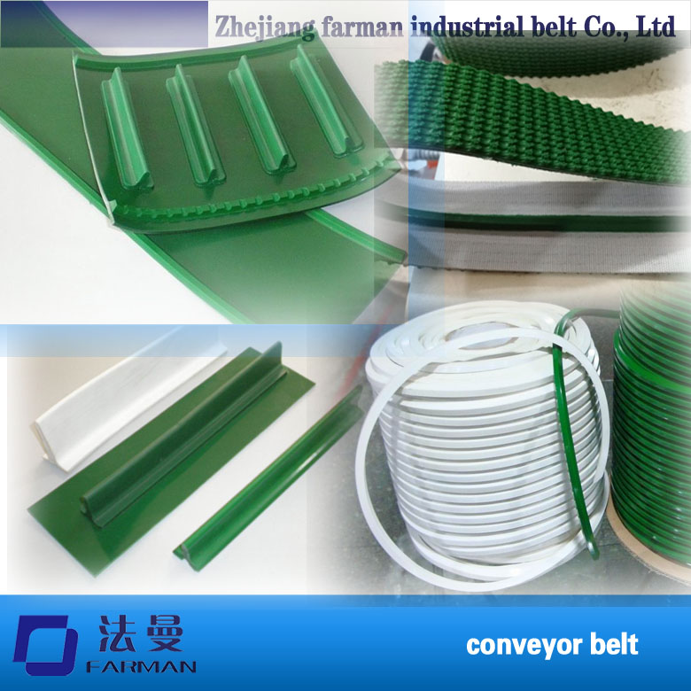 Green Industrial Anti-static Pvc Conveyor Belt With Guide Strip цена