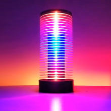 Dj led 자동차 주변 램프 음악 대화 형 오디오 램프 리듬 아크릴 야간 램프 멀티 애니메이션 muzio