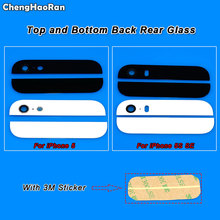 ChengHaoRan 1Set Back Cover Glass Rear Housing For iPhone 5 5S SE Assemble Housing Top Bottom Camera Flash Lens+3M Sticker