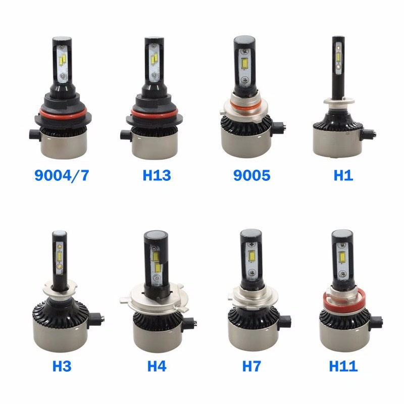 Aslent H7 LED Canbus Error Free anti emc Car Headlight H4 H11 H8 H9 H1 HB3 9005 HB4 9006 bulb Auto light 120W 24000lm 6500K 12v in Car Headlight Bulbs LED from Automobiles Motorcycles