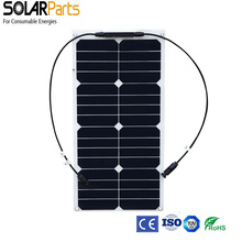 5PCS 25W solar panel module for solar cell charger 12V battery with sunpower solar cell with MC4 connector solar panel charger