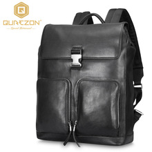 2017 Brand Laptop Backpack Men's Travel Bags 2017 Multifunction Rucksack Genuine Leather Bagpack Black Casual Backpacks For Men