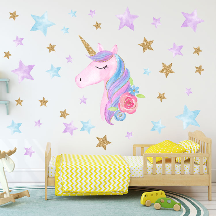 Joylong Kawaii Unicorn Stickers Cute Diy Wall Sticker Pusheen Cat Party Decor Princess Room Decoration Kids Birthday Gifts Buy At The Price Of 3 92 In Aliexpress Com Imall