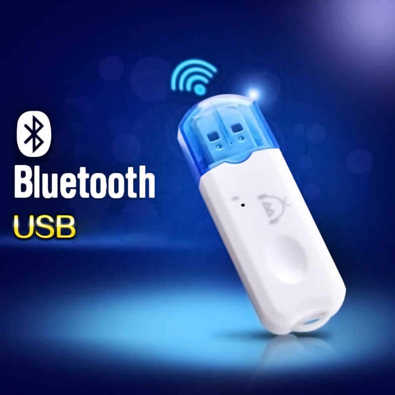USB Bluetooth V2.1 Audio Stereo Receiver Wireless Handsfree Adapter A2DP Dongle Car Kit for Speaker For iphone For Car or Home