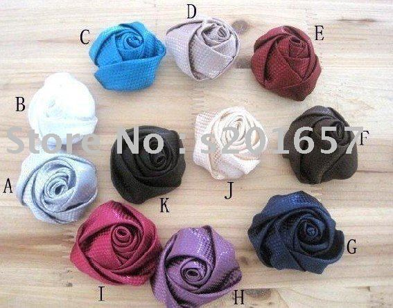 fashion freeshipping & charming fabric rose design paste color brooch accessary /hairband 24pc/lot