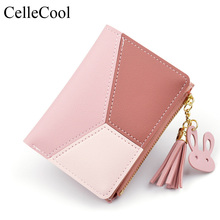 2019 New Wallet Coin Card Holder Soft Leather Phone Female  Womens Cute Fashion Purse Long Zip