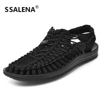 Men Summer Casual Beach Sandals Soft Anti Slip Lace Up Gladiator Shoes Male Classics Quick Dry Comfortable Sandals AA12138