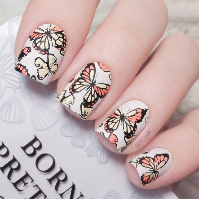 BORN PRETTY Geometry Fruit Nail Art Stamp Template Mandala Baroque Floral Animal Lace Ethnic Image Stamping Plate Manicure Tools
