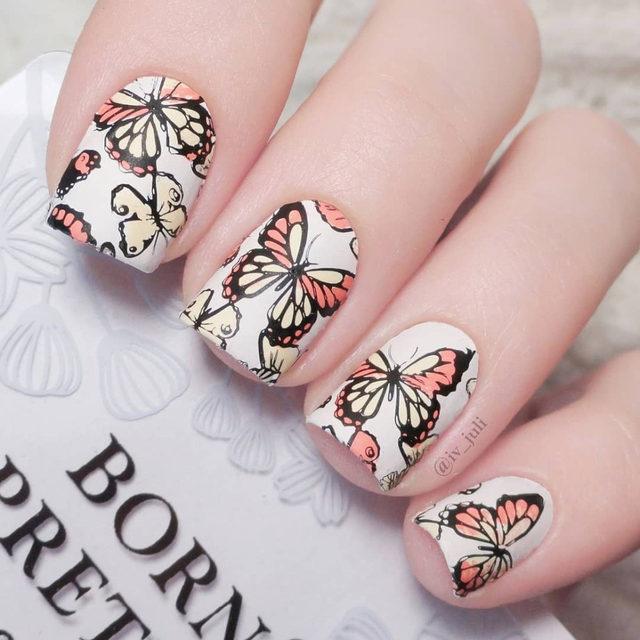Online Shop BORN PRETTY Geometry Fruit Nail Art Stamp Template ...