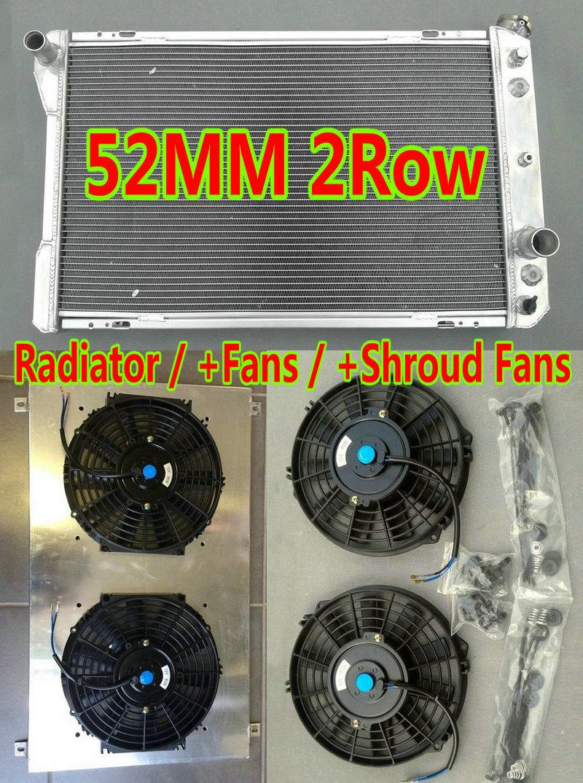 Radiator Shroud+12V Fan for 82-92 Chevy Camaro Z28// Pontiac Firebird,TRANS AM V8