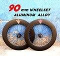 Фиксированная Шестерня fixie 90 мм колеса из алюминиевого сплава, колёса, триггер, колеса для шоссейного велосипеда, набор колес для фикси, набо...