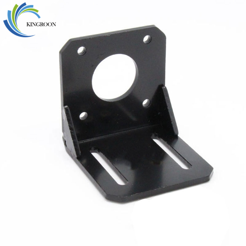 KINGROON 5PCS NEMA 17 Stepper Motor Mounting Bracket Black L Type Motor Bracket Holder For Stepper Motor 3D Printer Parts F1 pittman motor for liyu pm 3212 printer motor 9234c140 r5 printer parts page 1