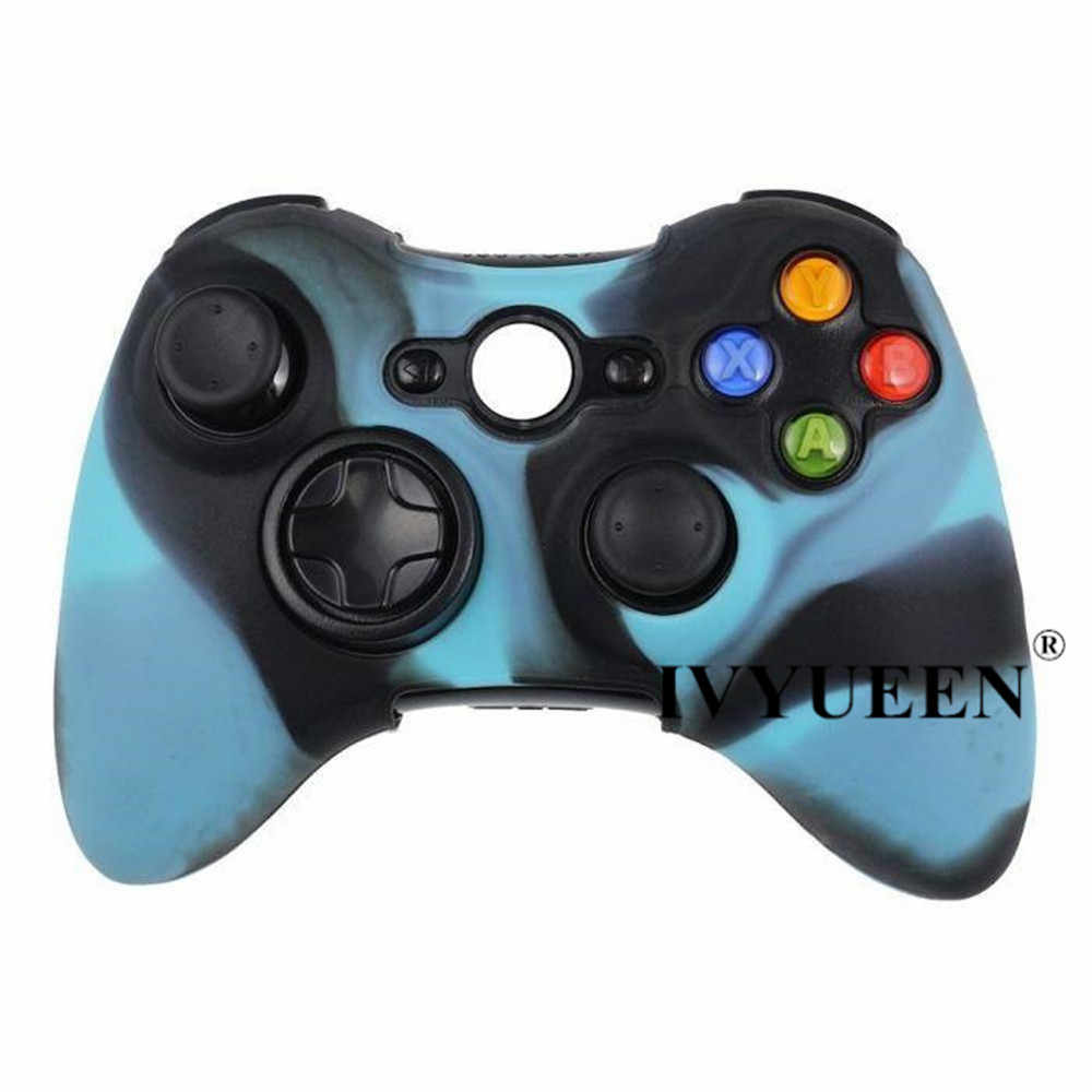 ivyueen 18 colors soft silicone protective skin case for microsoft xbox 360 wired wireless controller  [ 1000 x 1000 Pixel ]