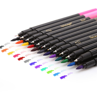 24 Colors Fineliner And Brush Twin Tip Marker Set 4mm Fineliner Tip 1 2mm Brush Tip