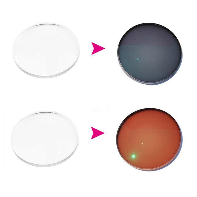 1.67 Asférico Lentes de Prescripción Óptica Photochromic Rápido Cambio de Revestimiento de Lentes Fotosensibles