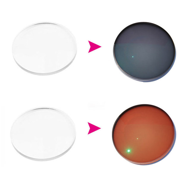 1.67 Lentes Fotocromáticas Asféricas Fotocromáticas Lentes de Prescrição Óptica de Revestimento Em Rápida Mudança